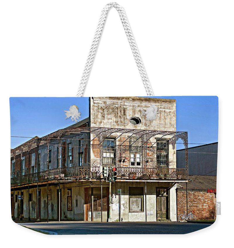 New Orleans Weekender Tote Bag featuring the photograph History Lesson by Steve Harrington