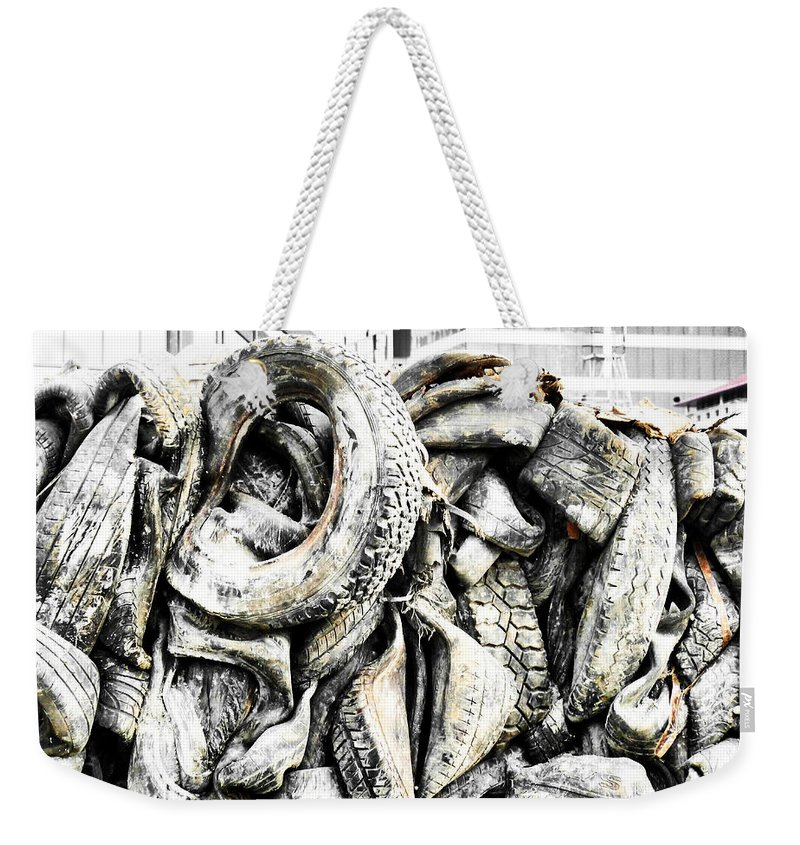 Kinetic Energy Weekender Tote Bag featuring the photograph Hitting The Wall by Steve Taylor