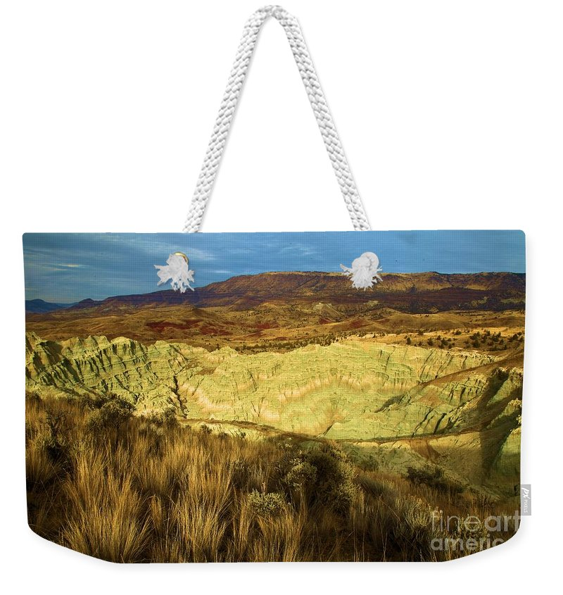 John Day Fossil Beds National Monument Weekender Tote Bag featuring the photograph Hole In The Basin by Adam Jewell