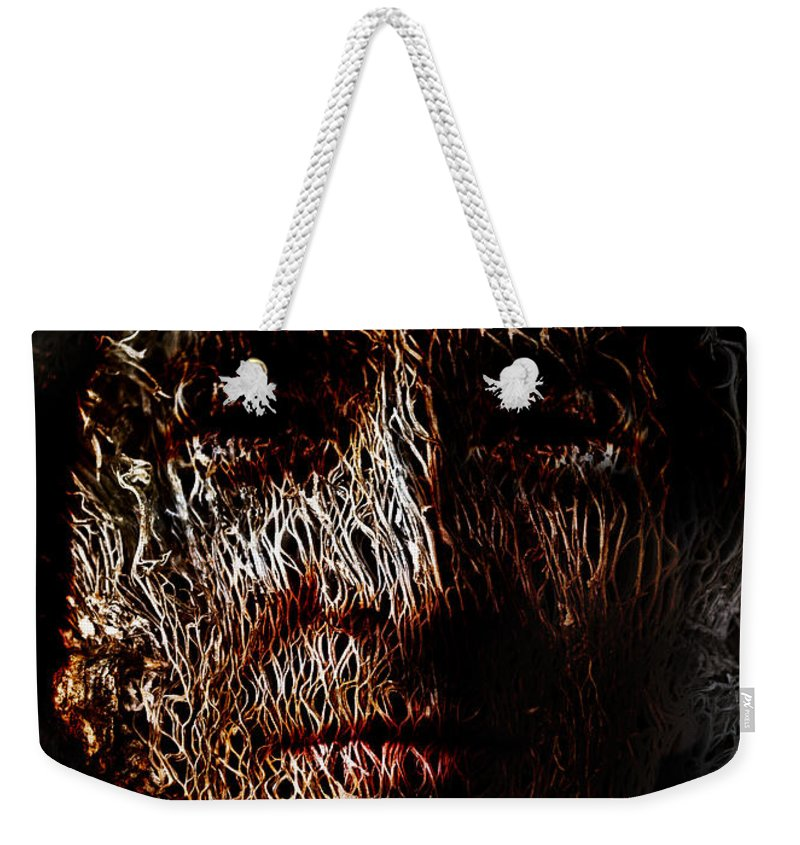 Hollowman Weekender Tote Bag featuring the painting Hollowman by Christopher Gaston