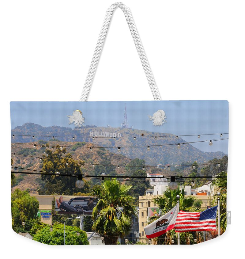 Hollywood Weekender Tote Bag featuring the photograph Hollywood U.s.a by Lynn Bauer