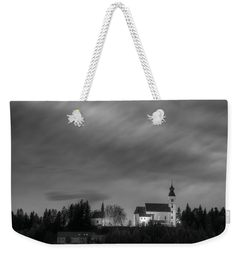 Church Weekender Tote Bag featuring the photograph Holy Spirit Church by Ivan Slosar