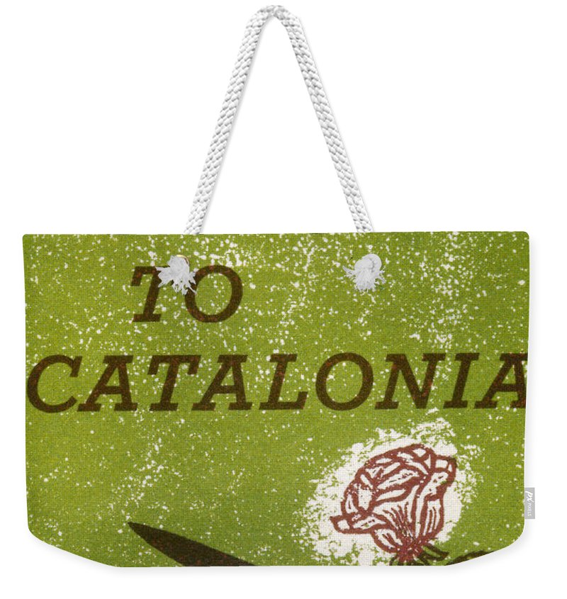 1930s Weekender Tote Bag featuring the photograph Homage To Catalonia by Granger