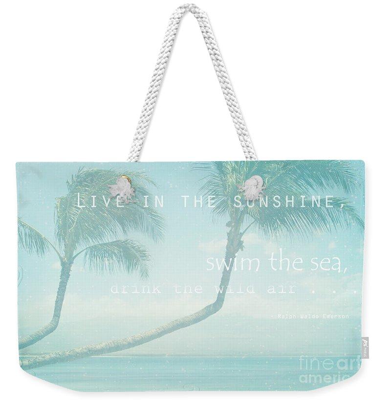 Aloha Weekender Tote Bag featuring the photograph Hono Kai Makani A Kai by Sharon Mau