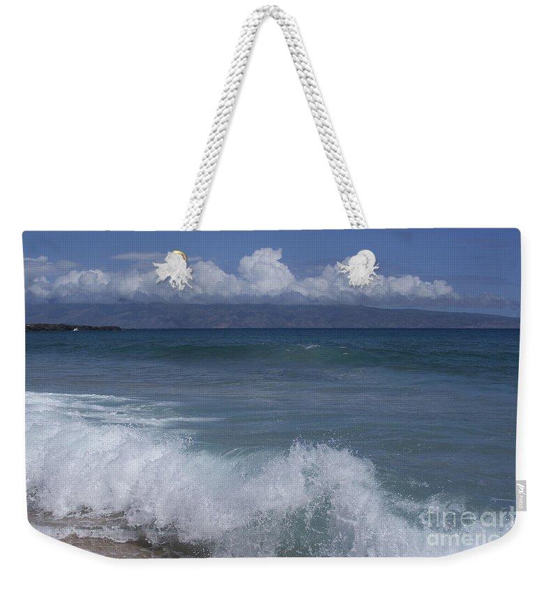 Aloha Weekender Tote Bag featuring the photograph Honokohau Aloalo Aheahe D T Fleming Beach Maui Hawaii by Sharon Mau