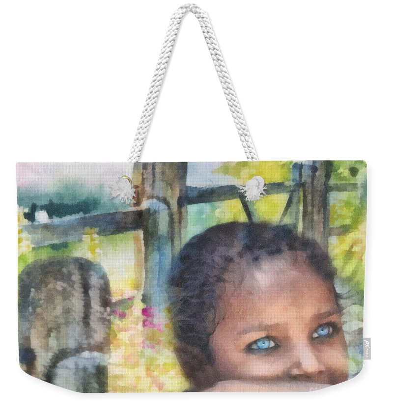 Hope Weekender Tote Bag featuring the painting Hope by Mo T