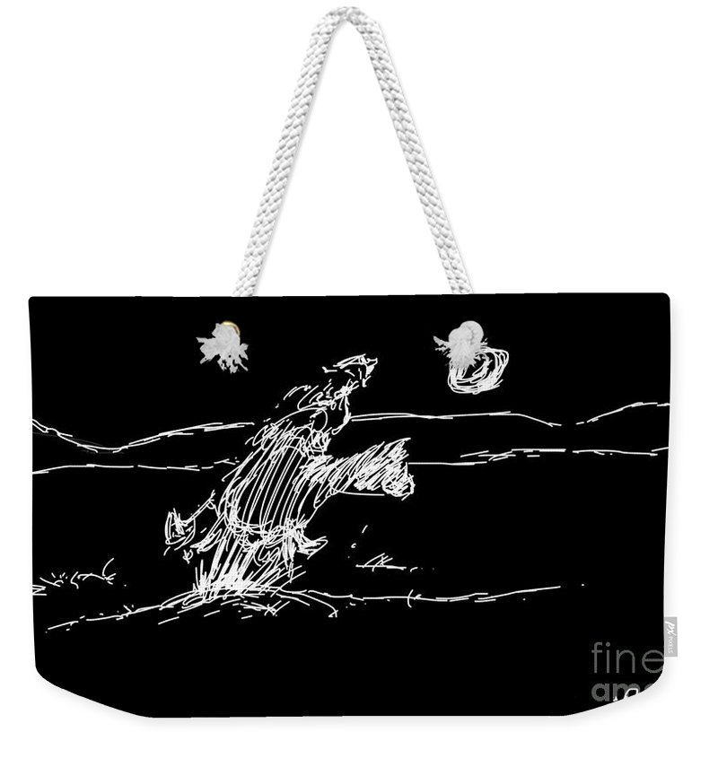 Horse Weekender Tote Bag featuring the digital art Horse And Rider by George Pedro
