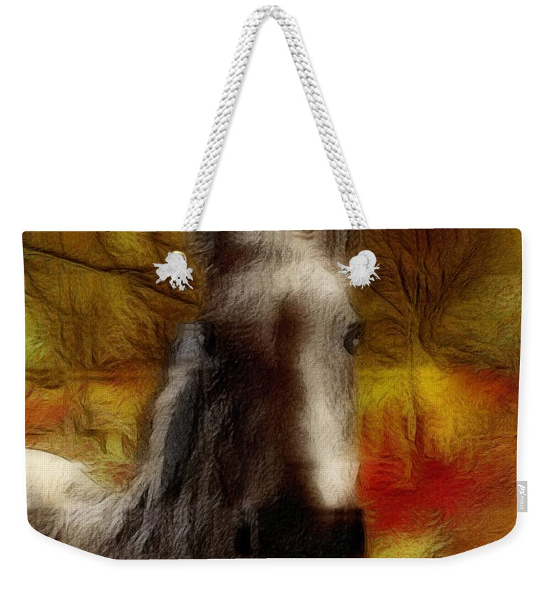 Horse Weekender Tote Bag featuring the photograph Horse On The Farm by Ericamaxine Price