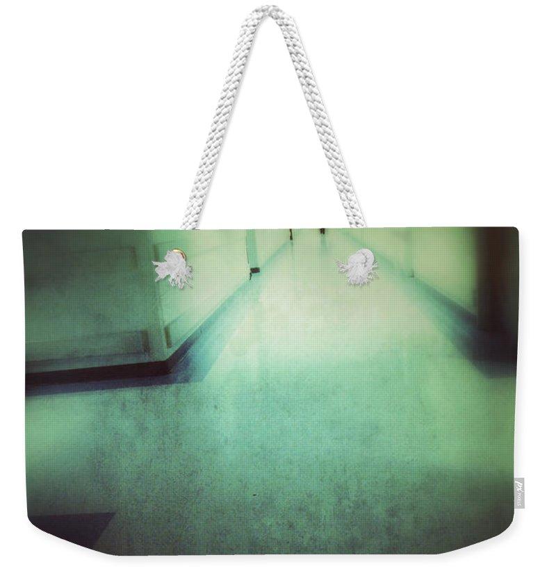 Hospital Weekender Tote Bag featuring the photograph Hospital Hallway by Jill Battaglia
