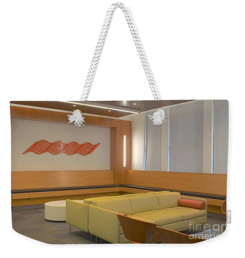 Chairs Weekender Tote Bag featuring the photograph Hospital Waiting Room by Photo Researchers, Inc.