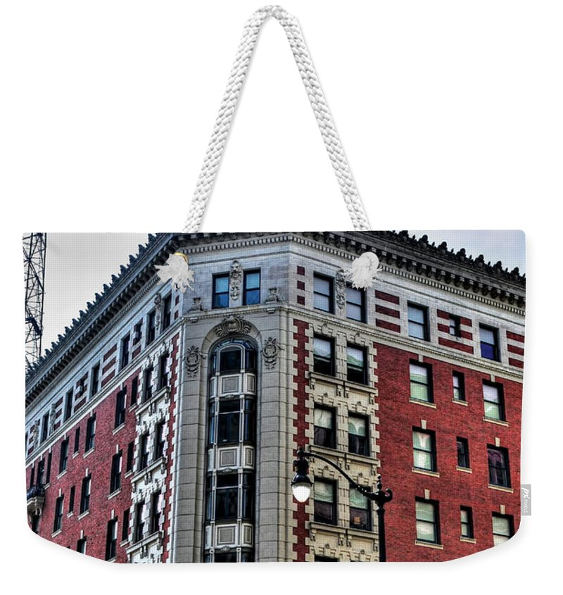 Weekender Tote Bag featuring the photograph Hotel Lafayette Series 0001 by Michael Frank Jr