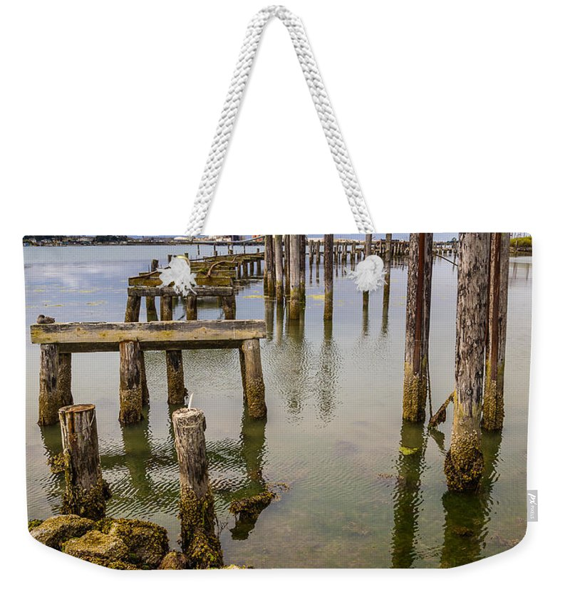 Humboldt Bay Weekender Tote Bag featuring the photograph Humboldt Bay Over Darkening Skies by Greg Nyquist