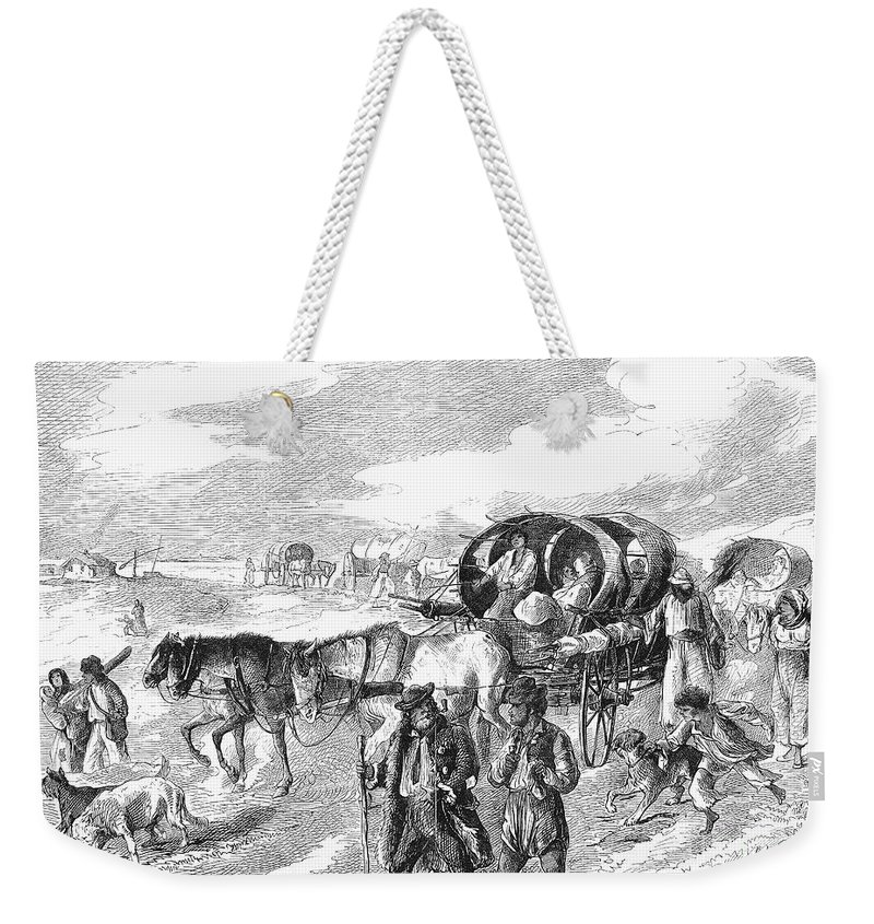 1874 Weekender Tote Bag featuring the photograph Hungarian Gypsies, 1874 by Granger