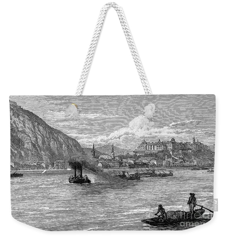1886 Weekender Tote Bag featuring the photograph Hungary: Budapest, 1886 by Granger