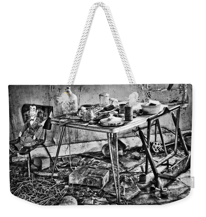 Old Kitchen Weekender Tote Bag featuring the photograph Hungry Helpers by The Artist Project