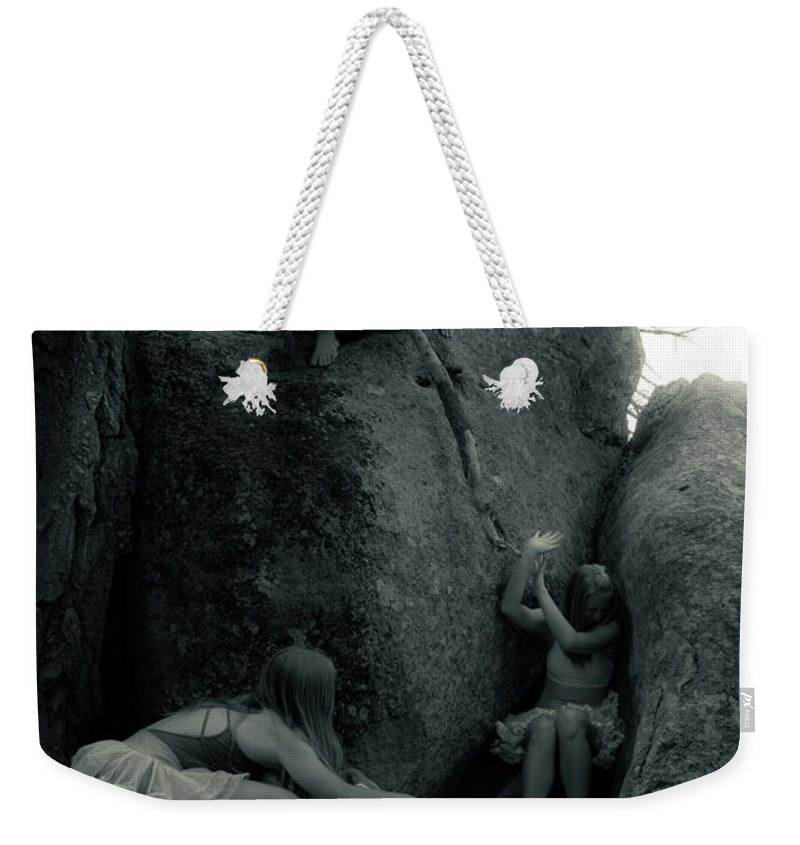 Humorous Weekender Tote Bag featuring the photograph Hunting Wild Dancers 2 by Scott Sawyer