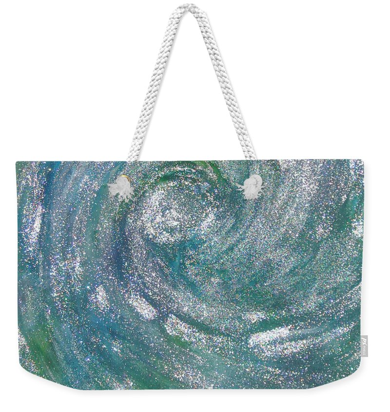 Hurricane Weekender Tote Bag featuring the painting Hurricane Of Light by Leanne Karlstrom