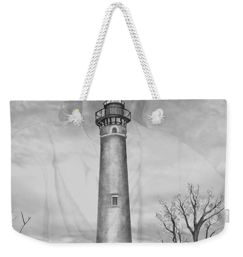I Weekender Tote Bag featuring the drawing I Am The Way by Bill Richards