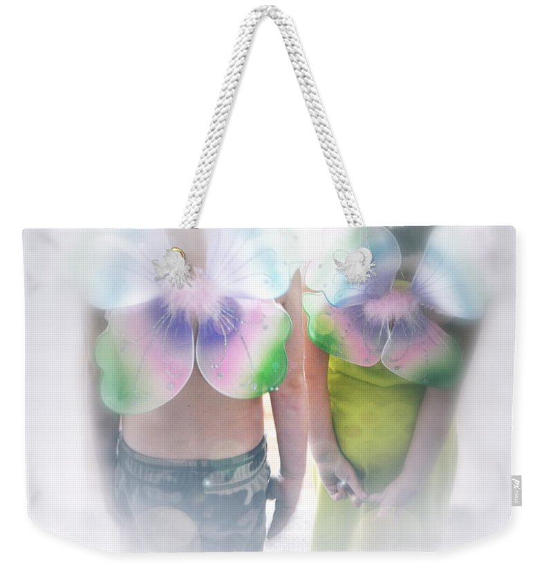 Butterfly Weekender Tote Bag featuring the photograph I Dreamed I Was A Butterfly by Gwyn Newcombe