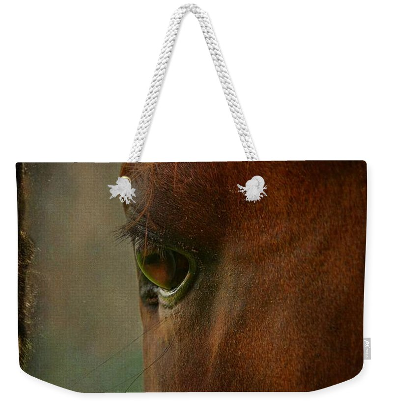 Animal Weekender Tote Bag featuring the photograph I See You by Davandra Cribbie