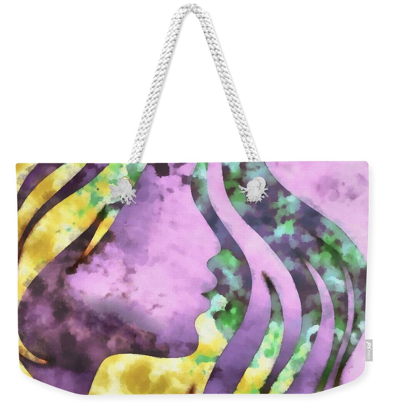 Wonder Weekender Tote Bag featuring the digital art I Should Have Said Goodbye 1 by Angelina Vick