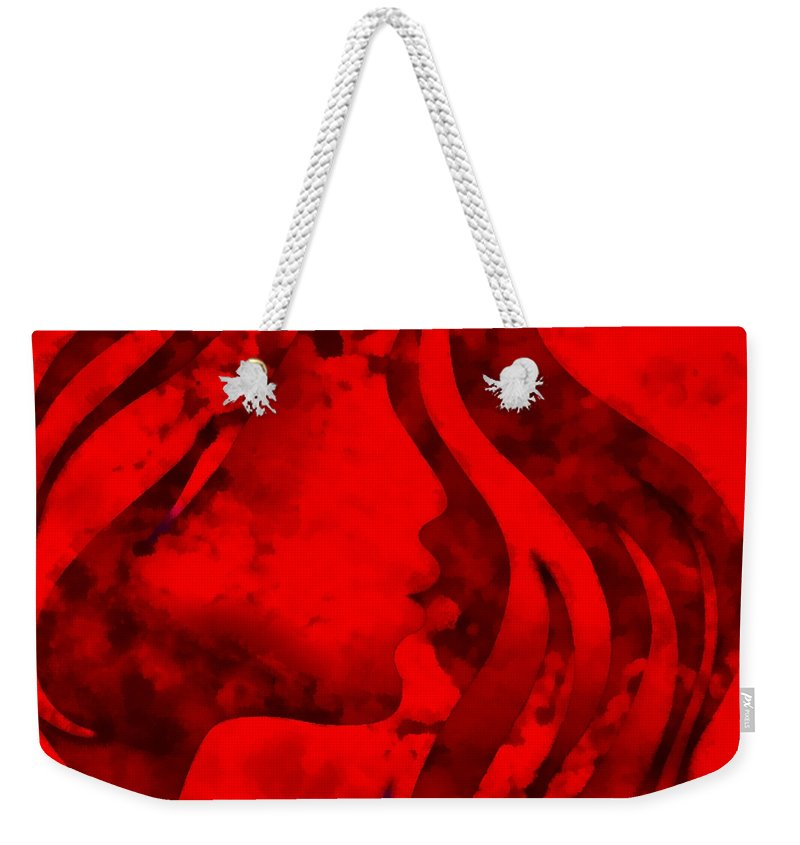 Wonder Weekender Tote Bag featuring the digital art I Should Have Said Goodbye 3 by Angelina Tamez