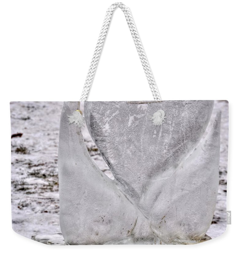 Weekender Tote Bag featuring the photograph Ice Cold Love by Michael Frank Jr