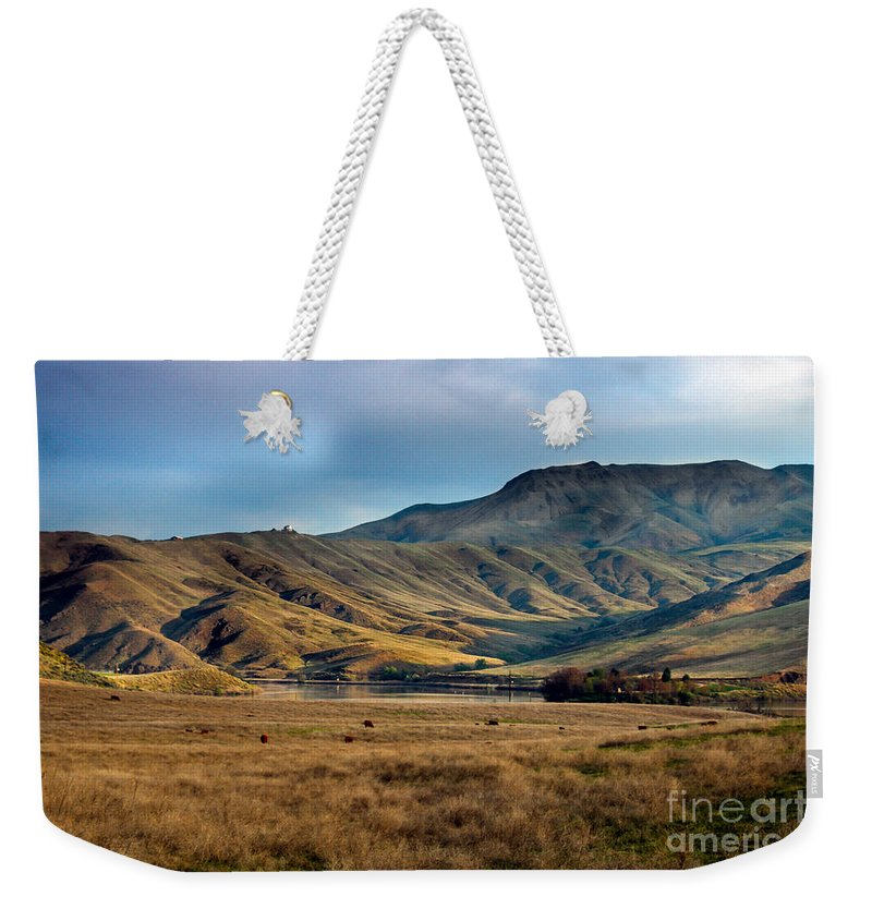 Landsacape Weekender Tote Bag featuring the photograph Idaho Foothills by Robert Bales