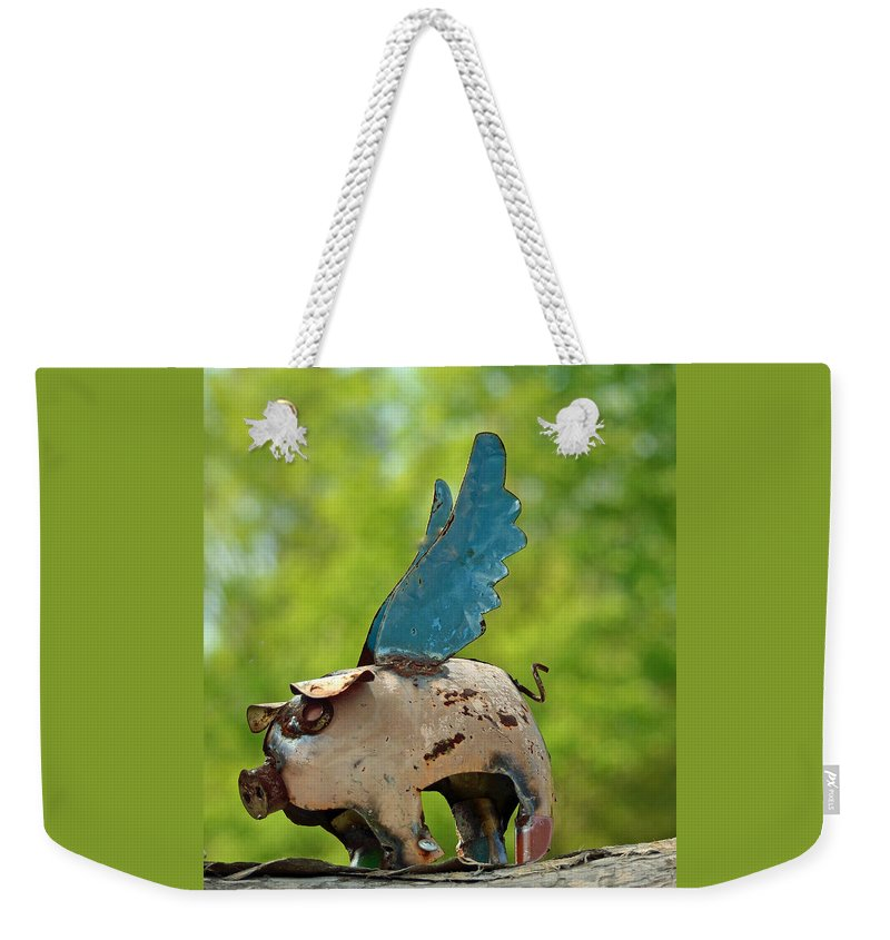 If Pigs Could Fly Weekender Tote Bag featuring the photograph If Pigs Could Fly by Patricia Caldwell