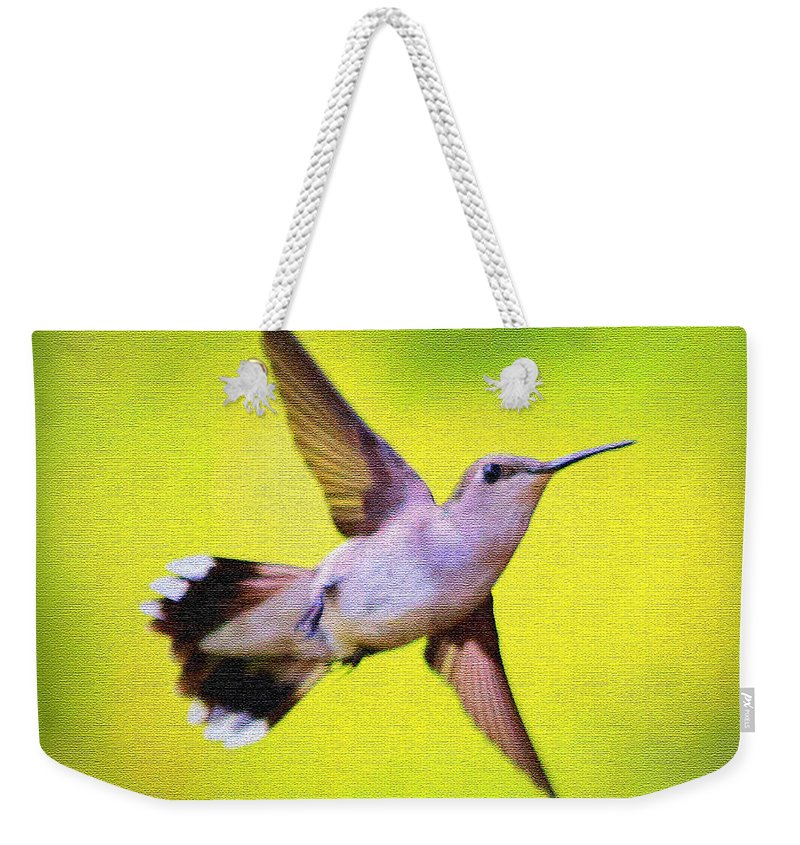 Hummingbird Weekender Tote Bag featuring the photograph If Wishes Had Wings by Carol Groenen