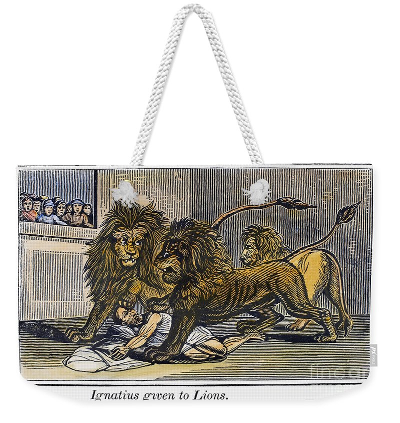 110 Weekender Tote Bag featuring the photograph Ignatius Of Antioch (c35-110) by Granger