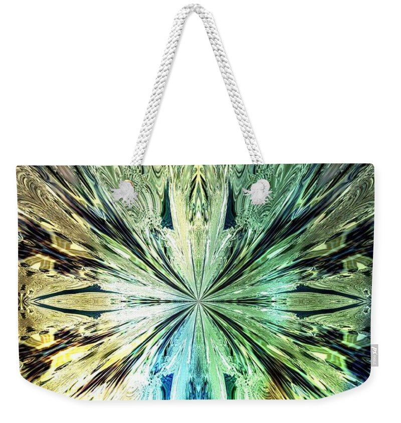 Illumination Weekender Tote Bag featuring the digital art Illumination Of The Glass Butterfly by Maria Urso
