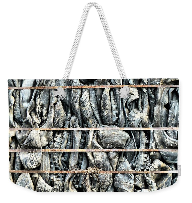 Demolition Weekender Tote Bag featuring the photograph Impenetrable by Steve Taylor