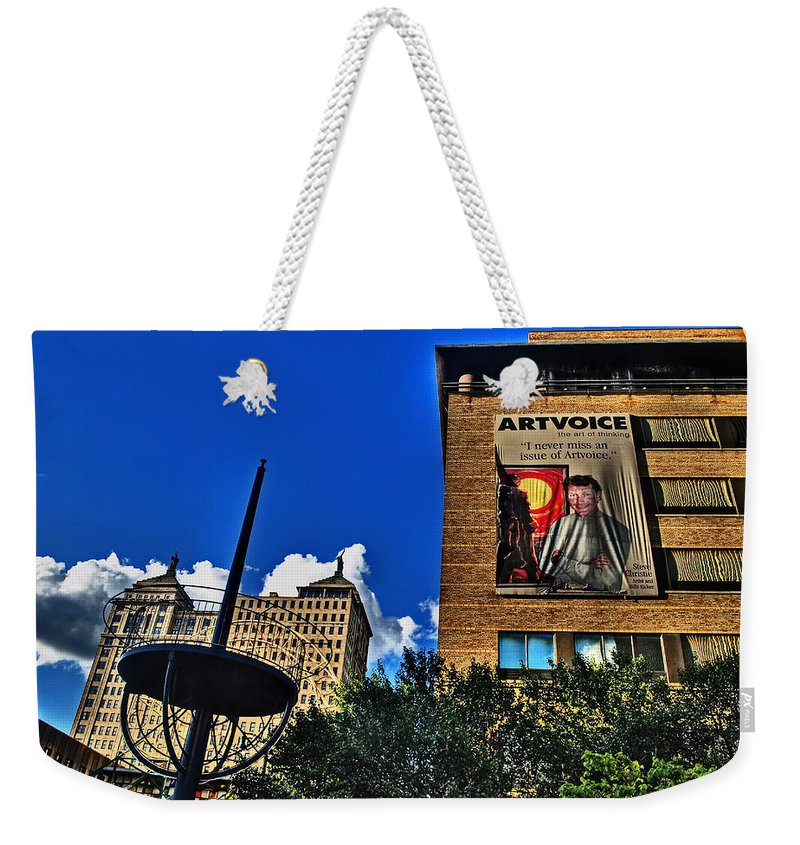Weekender Tote Bag featuring the photograph In Downtown Buffalo by Michael Frank Jr