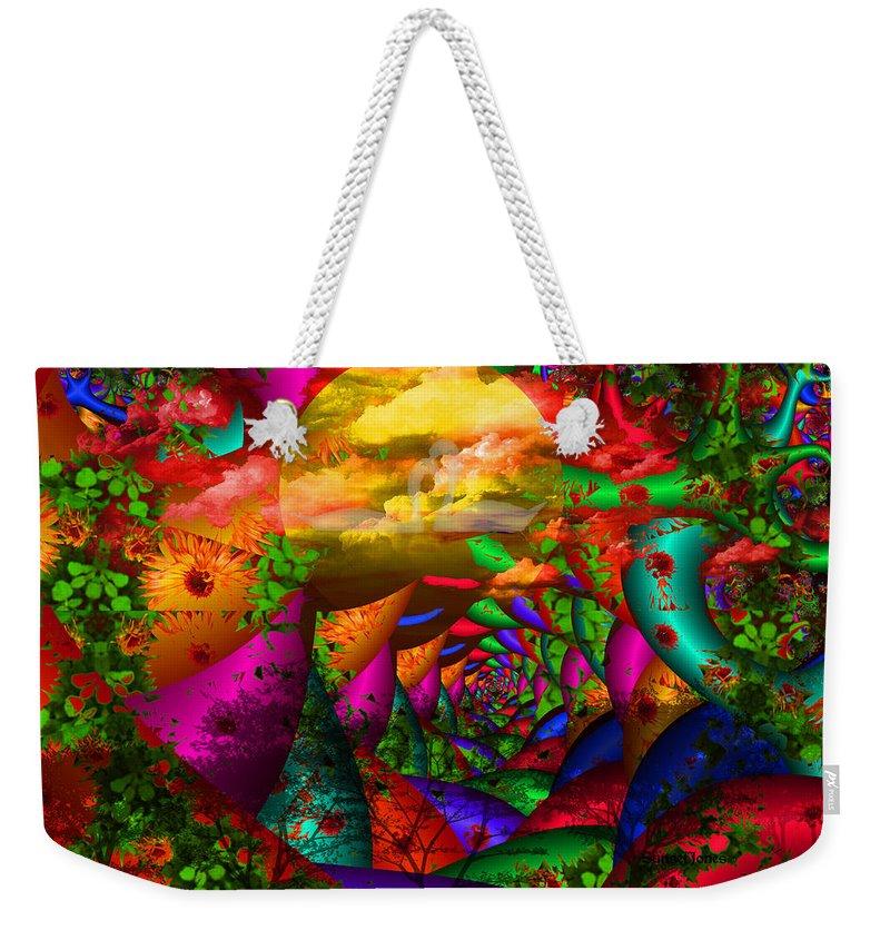 Swans Weekender Tote Bag featuring the digital art In My Dreams by Robert Orinski