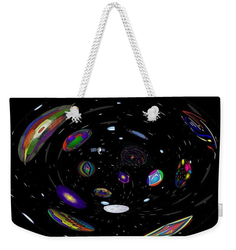 Space Weekender Tote Bag featuring the digital art In My Telescope by Alec Drake