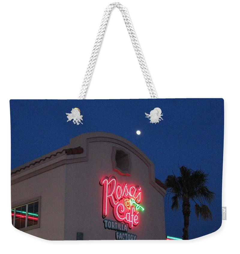 Ft Worth Tx Weekender Tote Bag featuring the photograph In The Moonlight by Amy Hosp