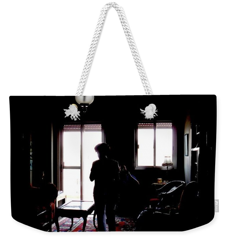 Shadows Weekender Tote Bag featuring the photograph In The Shadows by Marwan George Khoury