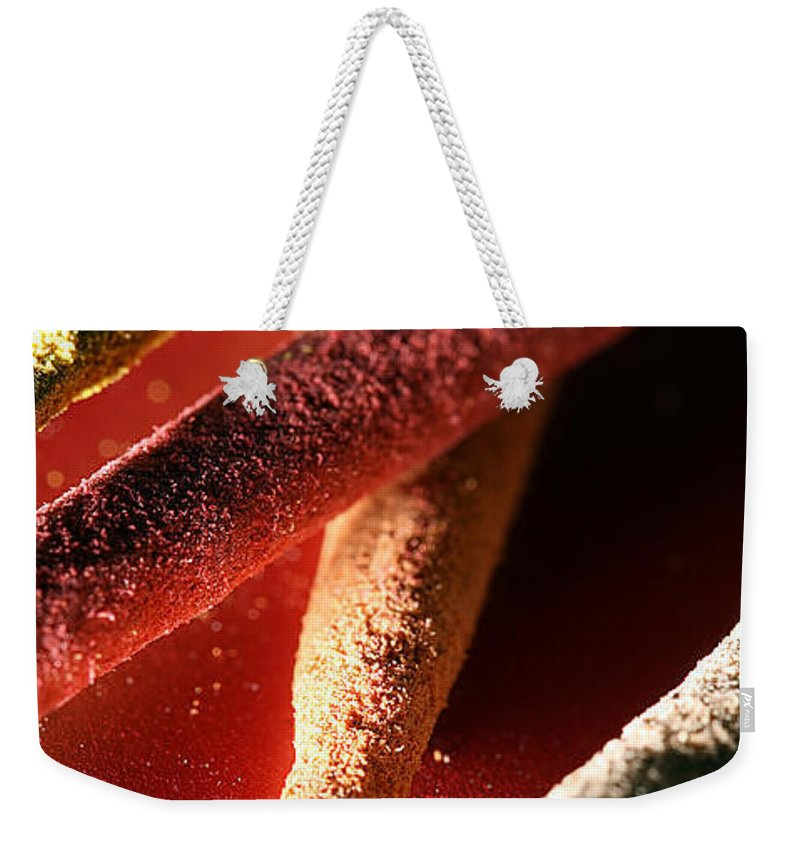 Lauren Radke Weekender Tote Bag featuring the photograph Incense by Lauren Radke