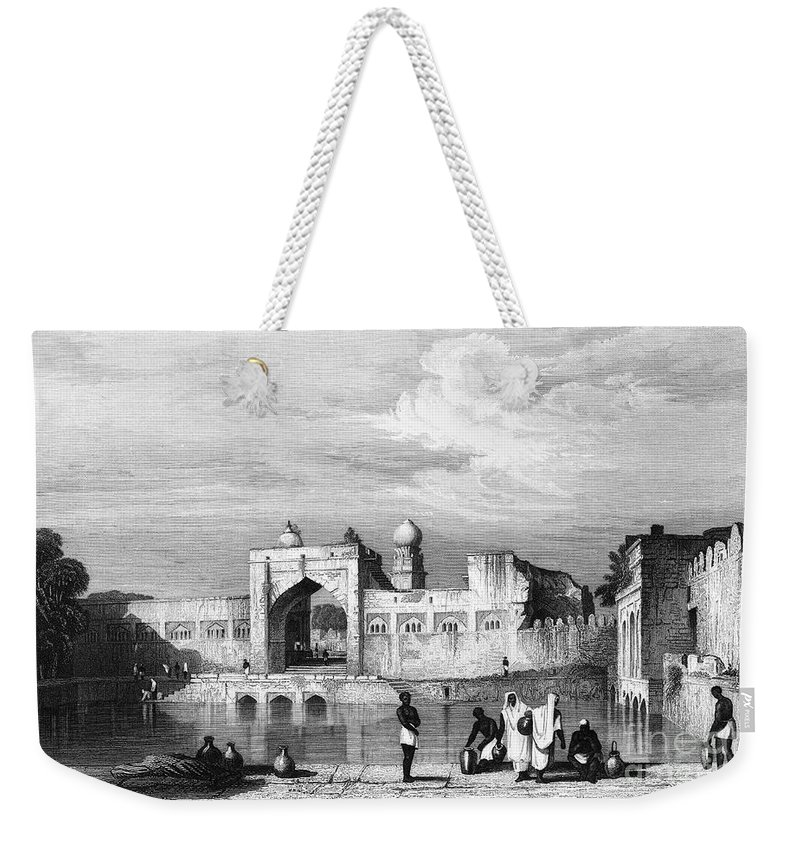 1860 Weekender Tote Bag featuring the photograph India: Bijapur, C1860 by Granger