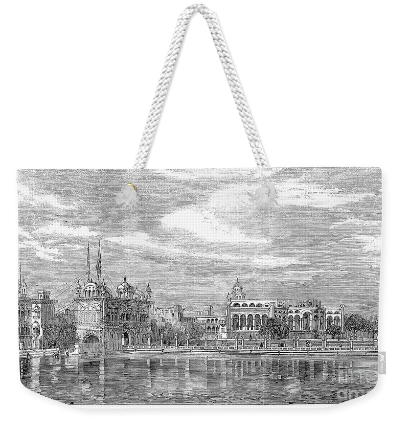 1858 Weekender Tote Bag featuring the photograph India: Golden Temple, 1858 by Granger