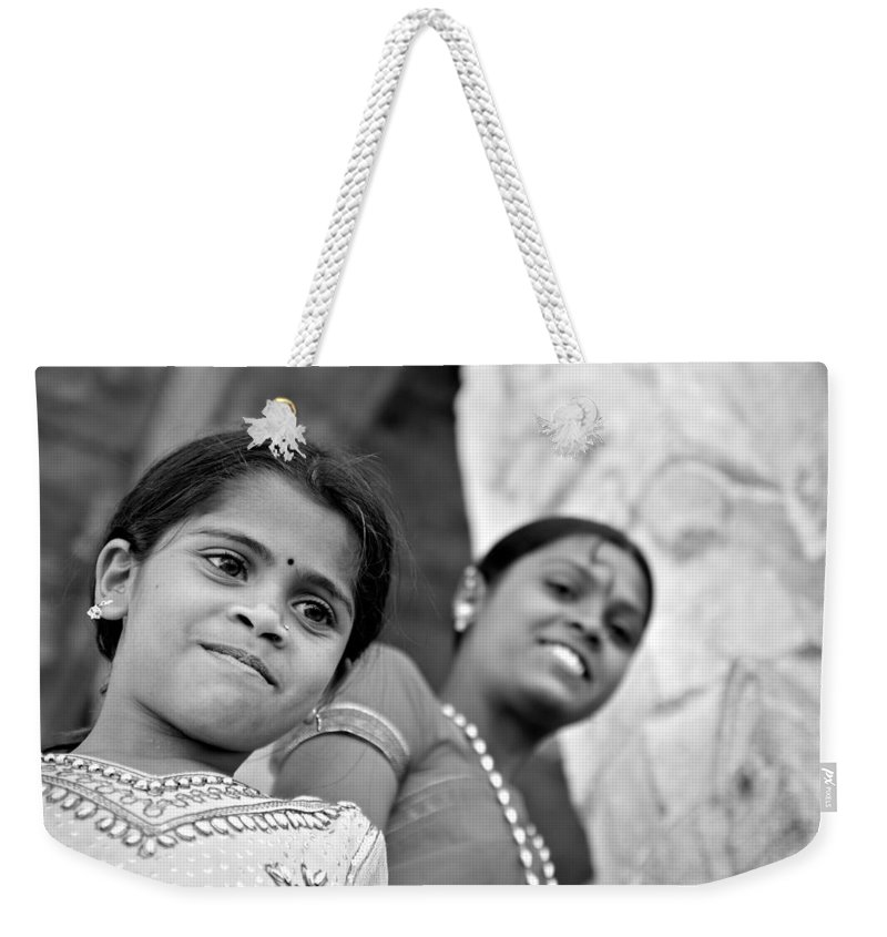 India Weekender Tote Bag featuring the photograph Indian Girls by Valerie Rosen