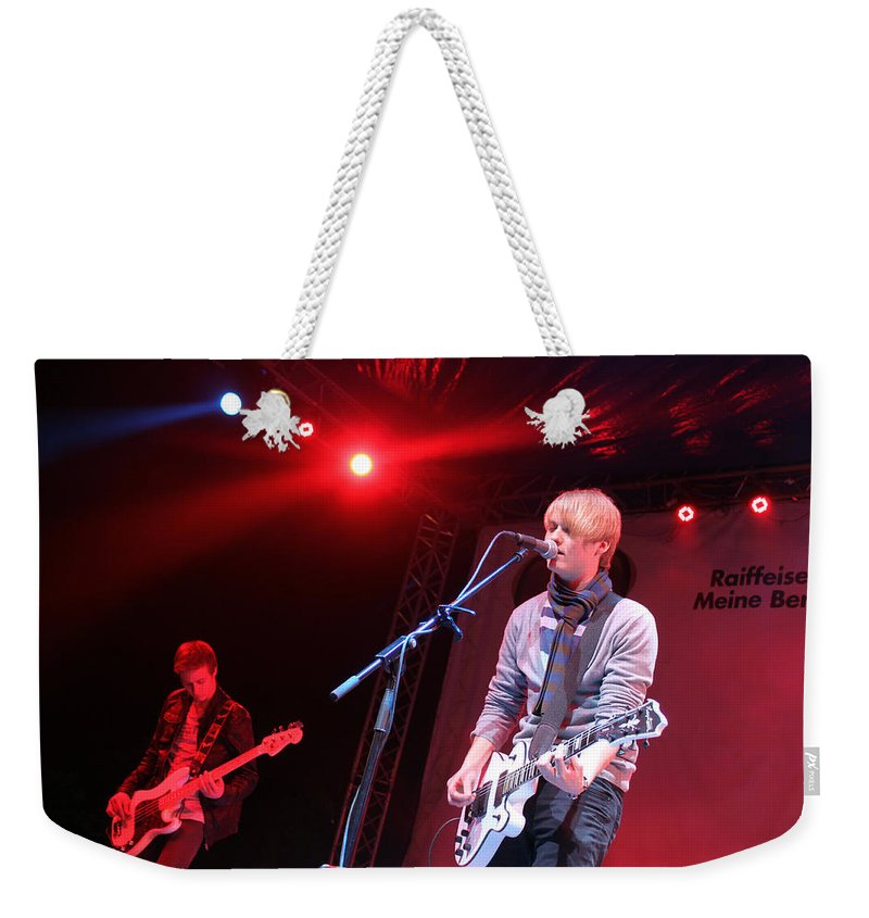 Inem Weekender Tote Bag featuring the photograph Inem At Nativity Chritmas Festival by Munir Alawi