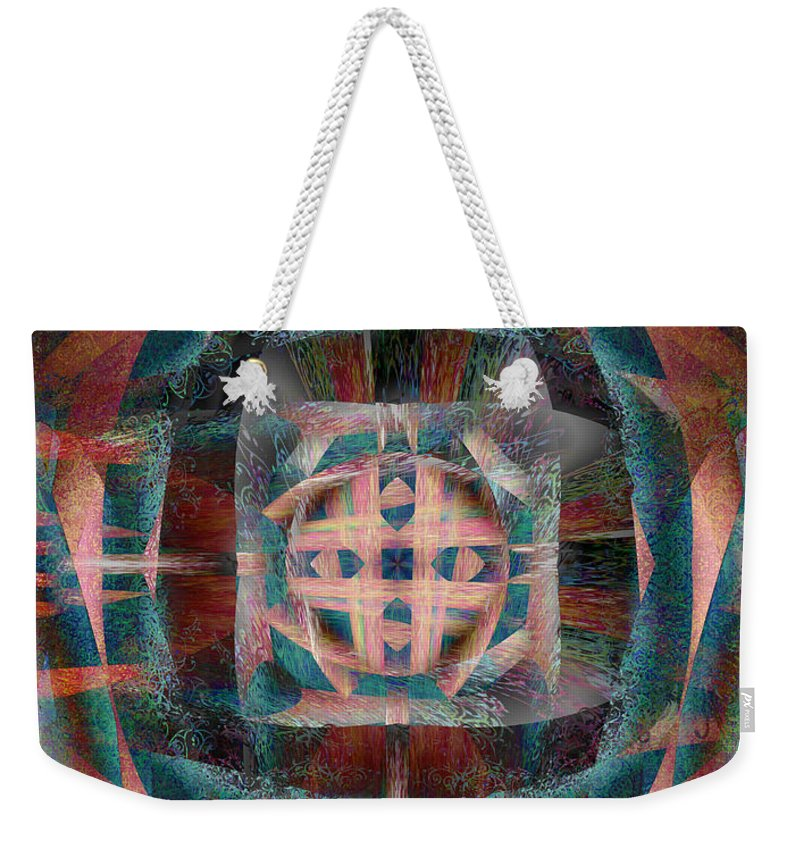 Infinite Weekender Tote Bag featuring the painting Infinite Scrollwork by Christopher Gaston
