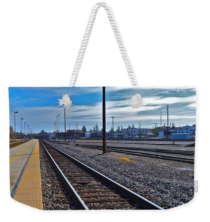Railroad Weekender Tote Bag featuring the photograph Infinity by Bill Owen