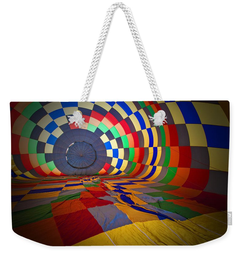 Rick Berk Photography Weekender Tote Bag featuring the photograph Inflating by Rick Berk