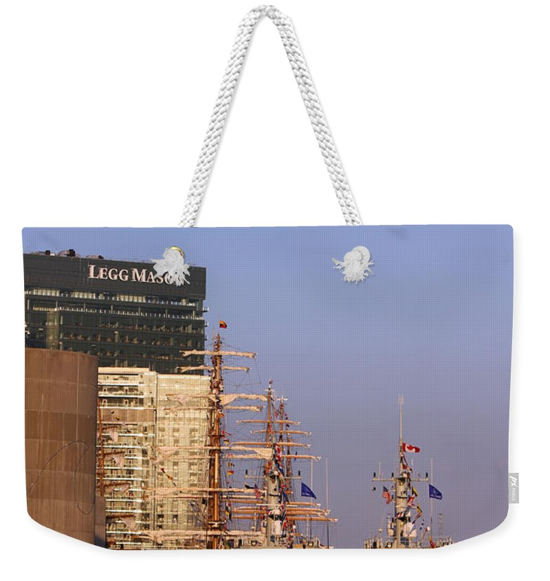 Harbor Weekender Tote Bag featuring the Inner Harbor510 by Carolyn Stagger Cokley