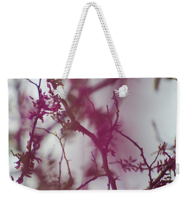 Vine Weekender Tote Bag featuring the photograph Inter-vined by Scott Hervieux