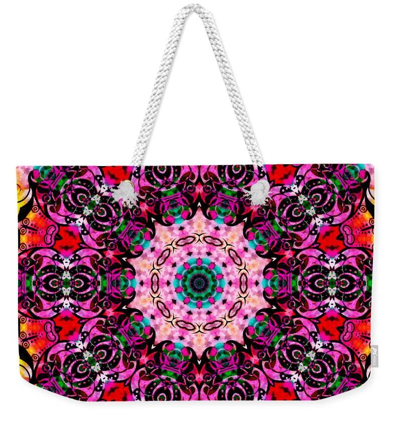 Summer Weekender Tote Bag featuring the mixed media Introspection 3 by Angelina Vick