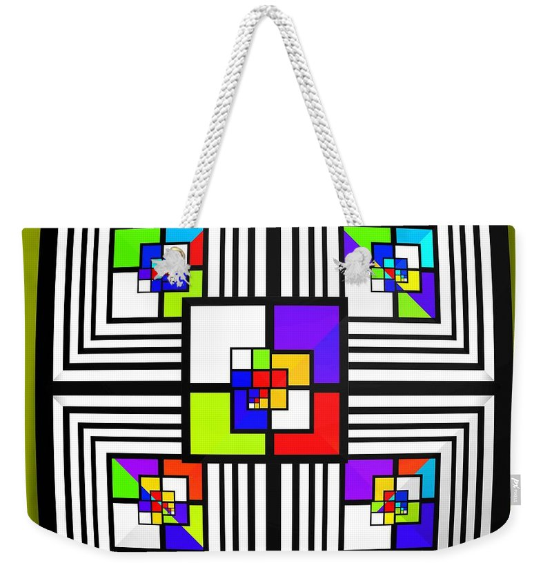 Diamond Weekender Tote Bag featuring the painting Invisible Diamond by Charles Stuart